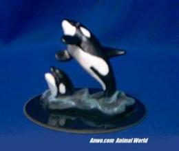 orca figurine statue small