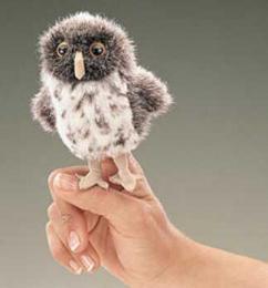 owl finger puppet spotted folkmanis
