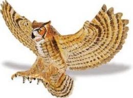 barn owl toy bird miniature replica