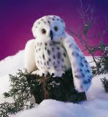 snowy white owl puppet