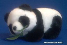panda bear plush toy stuffed animal bamboo