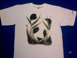 panda shirt animal world