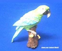 parrot figurine green macaw