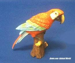 parrot figurine red macaw