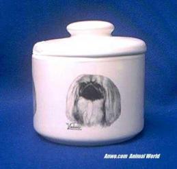 pekingese jar porcelain candy