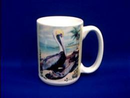 pelican picture mug
