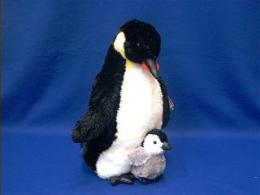 penguin with baby plush stuffed animal