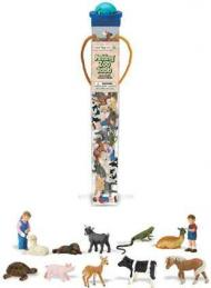 petting zoo toy tube animals