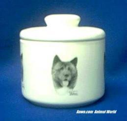 pinto akita jar porcelain
