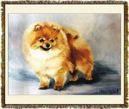 pomeranian blanket throw tapestry USA