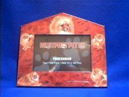 pomeranian picture frame