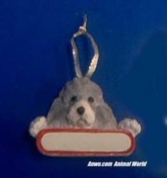 poodle christmas ornament personlize