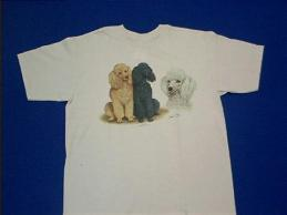 poodle collage t shirt