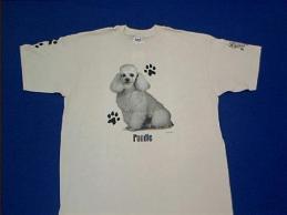 poodle white t shirt
