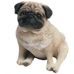 pug figurine sitting original size