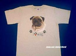pug t shirt face