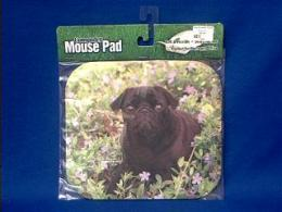 black pug mousepad