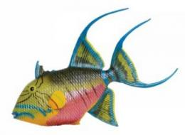 queen triggerfish toy miniature replica