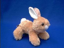 rabbit stuffed animal plush gold