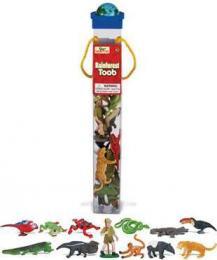 rainforest toy tube animals assortment