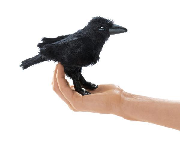 Raven Crow Finger Puppet