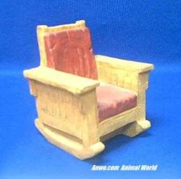 red chair figurine stone critters