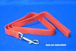 red dog leash lead 4' x 3/4