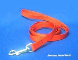red leash dog lead 6 foot x 5/8
