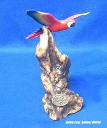 scarlet red macaw figurine john perry