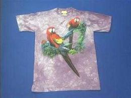 red macaw t shirt
