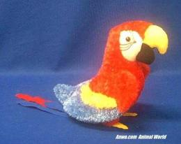 red parrot plush stuffed animal gabby