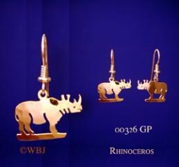 rhino earrings