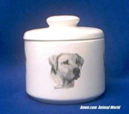 rhodesian ridgeback jar porcelain