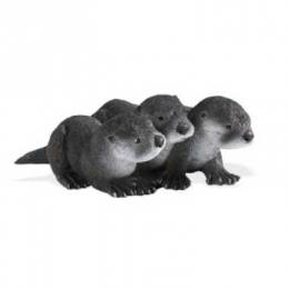 river otter babies toy minature replica