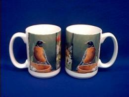 robin picture mug