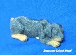 rottweiler figurine sandicast snoozer sz117