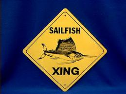 sailfish crossing sign
