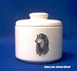 saluki jar porcelain