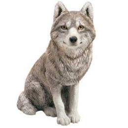 sandicast wolf figurine statue os303