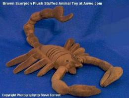 brown scorpion plush stuffed animal toy