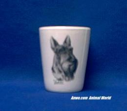 scottish terrier shot glass