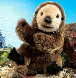 sea otter puppet folkmanis