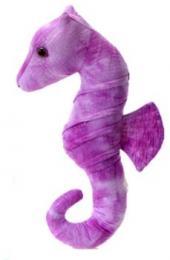 seahorse plush stuffed animal purple