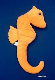 orange seahorse plush stuffed animal toy