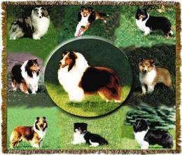 sheltie blanket throw tapestry shetland sheepdog