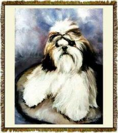 shih tzu blanket throw tapestry afghan