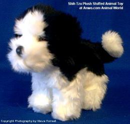 shih tzu plush stuffed animal toy poofy