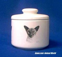 siamese cat jar porcelain
