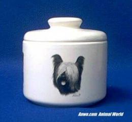 skye terrier jar porcelain