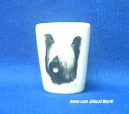skye terrier shot glass